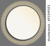 round vector golden frame with... | Shutterstock .eps vector #691549351