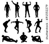 vector silhouettes man  various ... | Shutterstock .eps vector #691552279