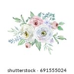 painted watercolor composition... | Shutterstock . vector #691555024