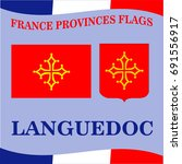 flag of french province... | Shutterstock .eps vector #691556917