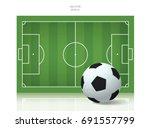 soccer ball and soccer field....   Shutterstock .eps vector #691557799