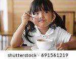 asian children cute or kid girl ... | Shutterstock . vector #691561219