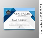 certificate premium template... | Shutterstock .eps vector #691565611