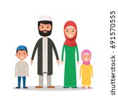 traditional muslim family in... | Shutterstock .eps vector #691570555