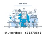 corporate training  education... | Shutterstock .eps vector #691570861
