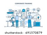 corporate training  education... | Shutterstock .eps vector #691570879