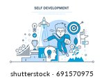 self development. growth of... | Shutterstock .eps vector #691570975