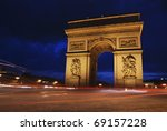 beautiflully lit triumph arch... | Shutterstock . vector #69157228