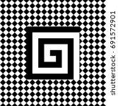 seamless tile with black white...   Shutterstock .eps vector #691572901