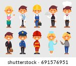cute profession in flat style | Shutterstock .eps vector #691576951