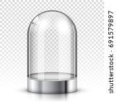 empty glass dome | Shutterstock .eps vector #691579897
