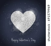happy valentines day greeting... | Shutterstock . vector #691579969