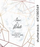 save the date design template.... | Shutterstock .eps vector #691580569