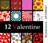 seamless and card valentine... | Shutterstock . vector #69158467