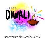 diwali big sale offer template... | Shutterstock .eps vector #691585747