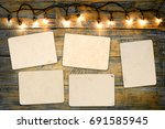 blank photo frame album   empty ... | Shutterstock . vector #691585945