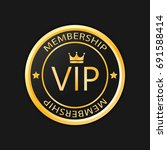 vip membership gold badge ... | Shutterstock .eps vector #691588414