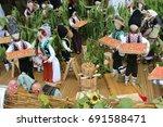 ethnics dolls in moldova | Shutterstock . vector #691588471