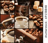 collage of coffee details.... | Shutterstock . vector #69158848