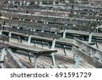 Wooden Chair Row In Open Air...