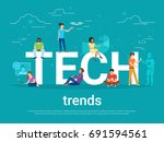 tech trends concept vector... | Shutterstock .eps vector #691594561