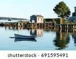 Scenic View Of Bass Harbor In...