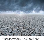dry cracked dirt in desert | Shutterstock . vector #691598764