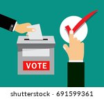 vote title button  votes... | Shutterstock .eps vector #691599361
