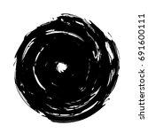 vector spiral . paintbrush .... | Shutterstock .eps vector #691600111