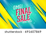 sale vector banner. promo offer.... | Shutterstock .eps vector #691607869