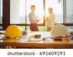 business engineer contractor... | Shutterstock . vector #691609291