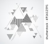 modern geometric flat pattern.... | Shutterstock .eps vector #691612591