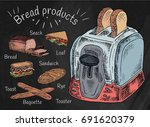 bread products. best choice for ...   Shutterstock .eps vector #691620379