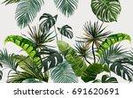 vector seamless vintage... | Shutterstock .eps vector #691620691