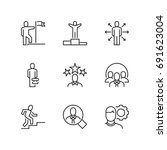 outline icons about business... | Shutterstock .eps vector #691623004