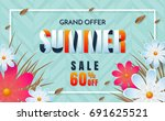 summer sale template banner... | Shutterstock .eps vector #691625521