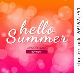 summer sale template banner... | Shutterstock .eps vector #691625791
