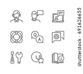 outline icons about help and... | Shutterstock .eps vector #691626655