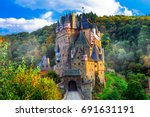 burg eltz   one of the most... | Shutterstock . vector #691631191