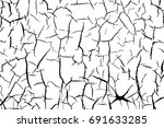 vector texture with many cracks ... | Shutterstock .eps vector #691633285