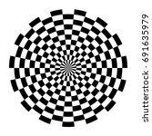 optical circle. circular op art ...   Shutterstock .eps vector #691635979