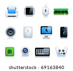 computer icon set | Shutterstock .eps vector #69163840