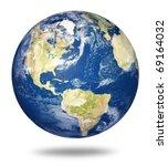 planet earth on white... | Shutterstock . vector #69164032