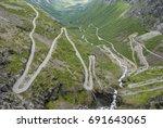 trollstigen switchback road... | Shutterstock . vector #691643065