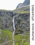 waterfall at trollstigen in... | Shutterstock . vector #691644841