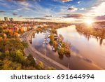 Autumn In Prague  Golden Sunset ...