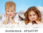 Small Boy And Girl In Angelic...