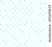 cyan flower pattern. seamless... | Shutterstock .eps vector #691653619
