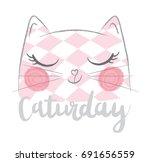 cat vector cartoon character | Shutterstock .eps vector #691656559