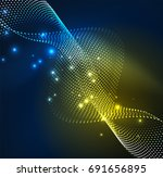 vector wave particles... | Shutterstock .eps vector #691656895